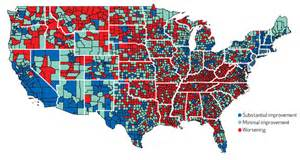 us crime map by county in parts of rural america worsening mortality