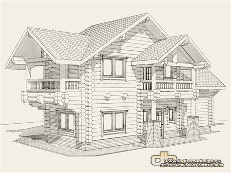 prices for log house design and 3d modeling denissov