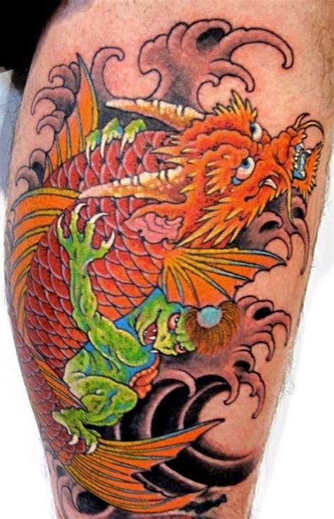 koi tattoo chris garver japanese dragon tattoo on left sleeve by chris garver