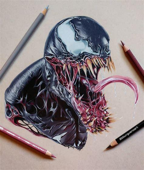 Drawing Venom by Venom Drawing By Borja Moreno