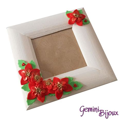 cornice fimo cornice portafoto in legno con decorazione in fimo stelle