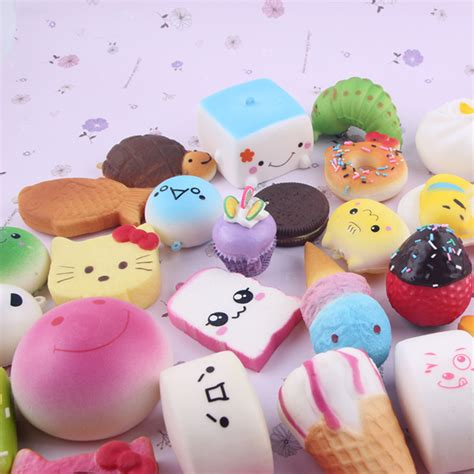 Soft And Slowrise Squishy Random Hk Mini Bun 20pcs kawaii mini random soft squishy doughnut panda bread cake buns phone ebay