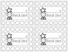 free printable behavior punch card template 1000 images about punch cards on behavior