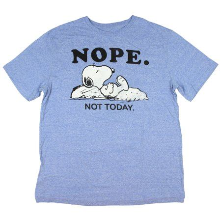 T Shirt Nope Not Today peanuts s snoopy nope not today t shirt walmart