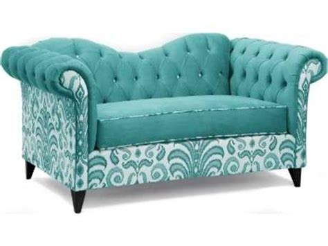 teal settee loni m designs ginger mixed teal settee lm 103