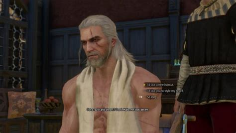 beard and hairstyles for geralt witcher 3 what all haircuts hairstyles beards look like