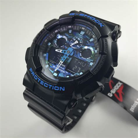 Casio G Shock Black casio g shock black and blue digi sports ga100cb 1a