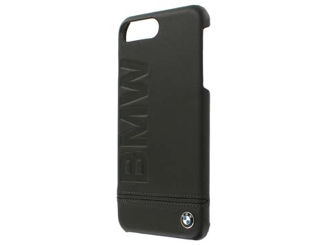 bmw logo hard case leren iphone    hoesje