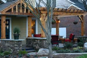 Front Porch With Pergola by Front Porch Addition Pergola By Creative Abundance