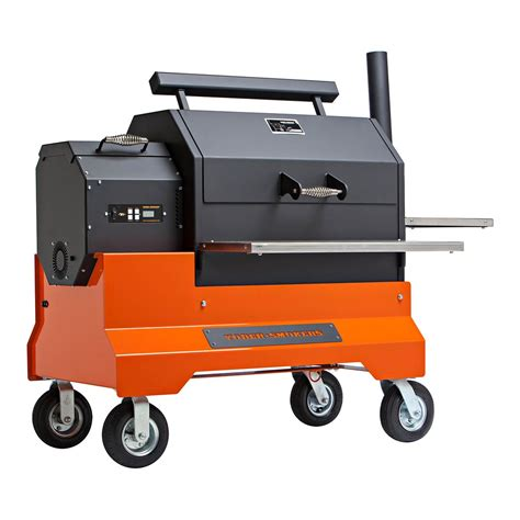 yoder ys640 pellet grill on competition cart all things barbecue