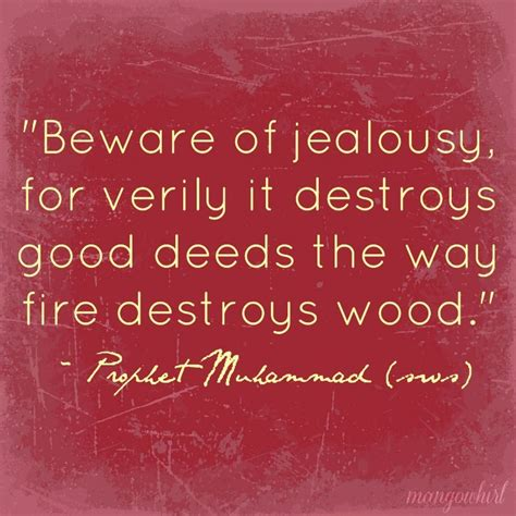 Wooden Poster Islamic Quote beware of jealousy for verily it destroys deeds the way destroys wood prophet