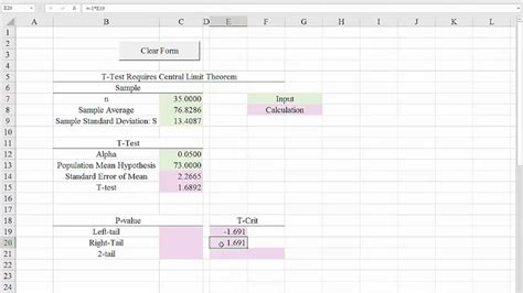 hypothesis testing excel template excel 2016 template for hypothesis tests t tests for the