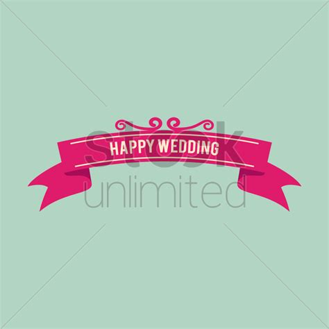 Wedding Banner Vector by Happy Wedding Banner Vector Image 1389918 Stockunlimited