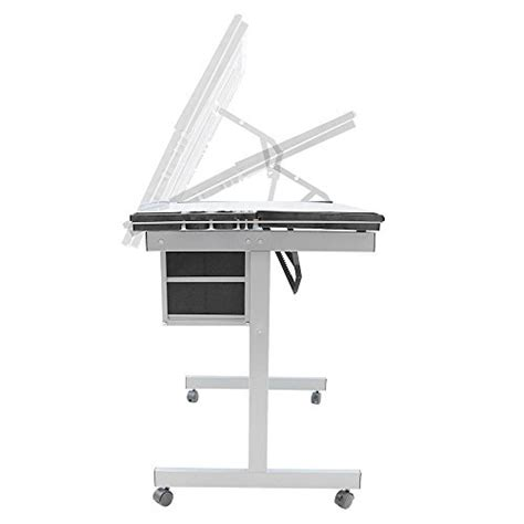 Go2buy Adjustable Drafting Drawing Table Rolling Drafting Rolling Drafting Table