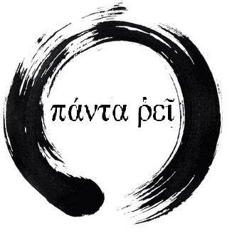 panta rei tattoos tattoos and panta rei inside an enso circle tattoos