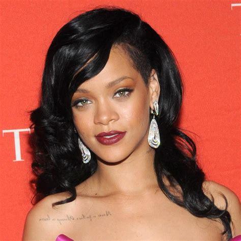 Black Hairstyles Rihanna | rihanna with black hair hairstyle for women man