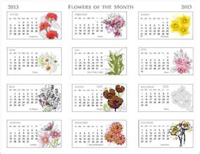 Desk Calendar Month To View 2013 Flowers Of The Month Calendar Pixdaus