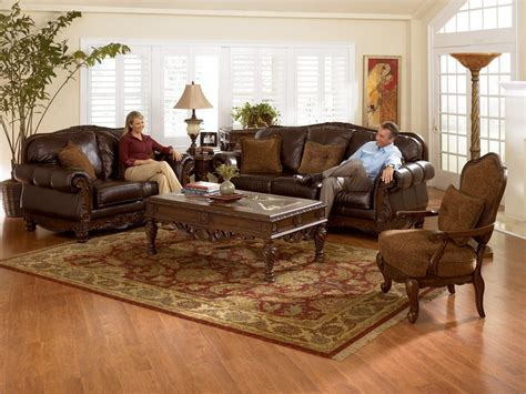 sofa ashley north shore buy north shore dark brown living room set by millennium