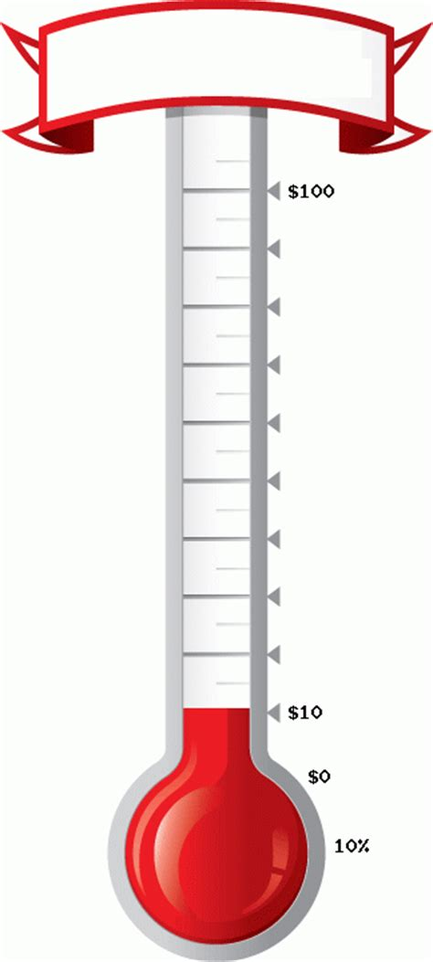 goal thermometer template printable goal thermometer printable cliparts co
