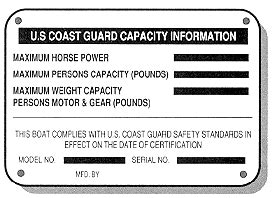 coast guard flat bottom boat basic boating safety boat capacity plate