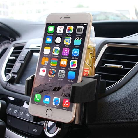 Multifunction Car Air Vent Drink Holder shunwei sd 1027 car auto multi functional abs air vent drink holder bottle cup holder phone