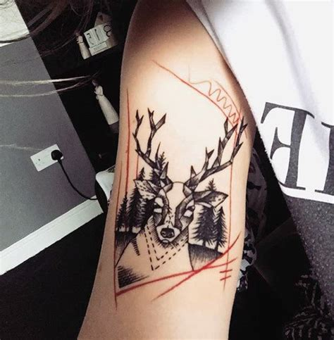 deer antler tattoos for men 90 deer tattoos for manly outdoor designs