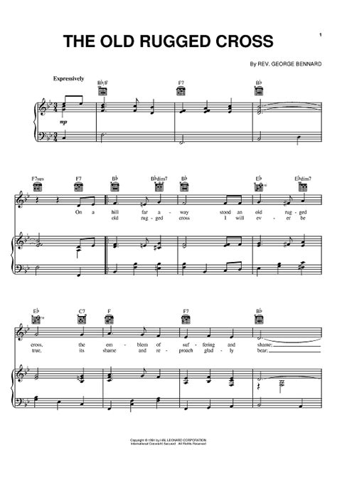 the rugged cross song the rugged cross sheet by johnny sheet pianos and piano