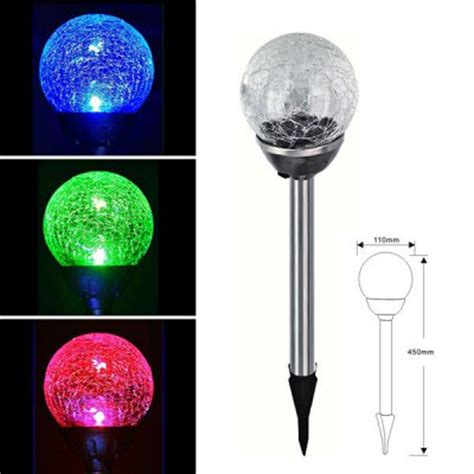 Solar Lights That Change Color Moonrays Solar Powered Led Color Changing Outdoor Crackle