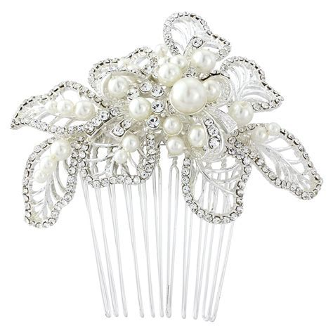 Eleanor Pearl Bridal Hair Comb Crystal Wedding Hair