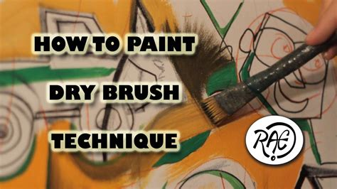 how to paint how to paint with acrylic paints learn dry brush technique