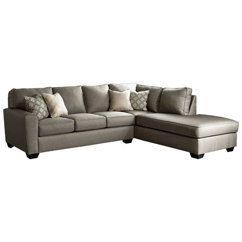 ashley sofa with chaise benchcraft calicho contemporary sectional with right