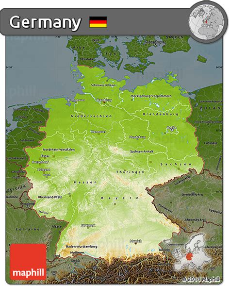 germany physical map free physical map of germany darken