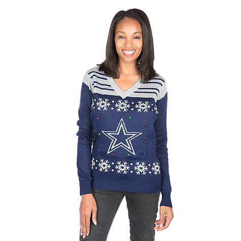dallas cowboys light up sweater gifts dallas cowboys pro shop