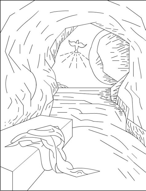jesus resurrection coloring pages christian easter coloring pages