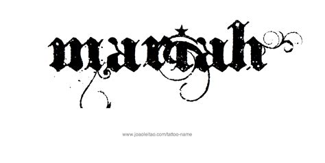 mariah tattoo name designs