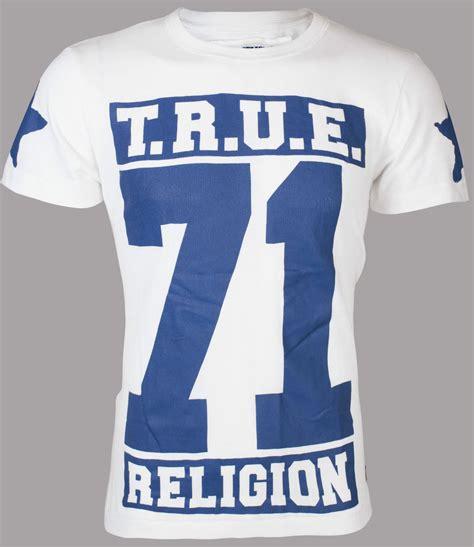 Tshirt Be True true religion mens t shirt true 71 white royal blue