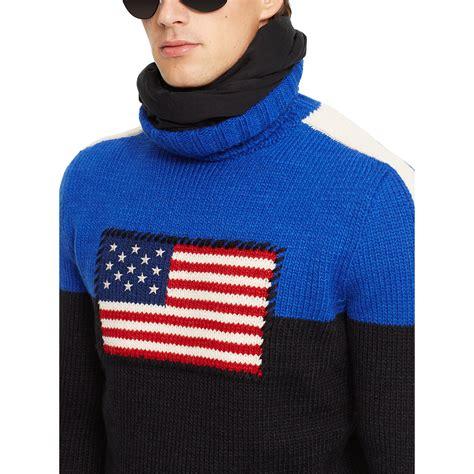 Sweater Black Flag K21 polo ralph flag turtleneck sweater in blue for black w flag lyst