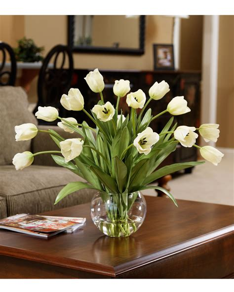 silk centerpieces and easy decorating with abundance of tulips silk