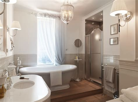 Bathroom Style Ideas | gray white traditional bathroom interior design ideas