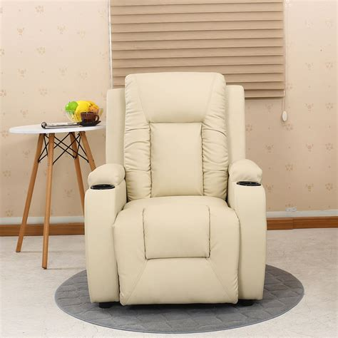 reclining sofa with drink holder oscar leather recliner w drink holders armchair sofa chair