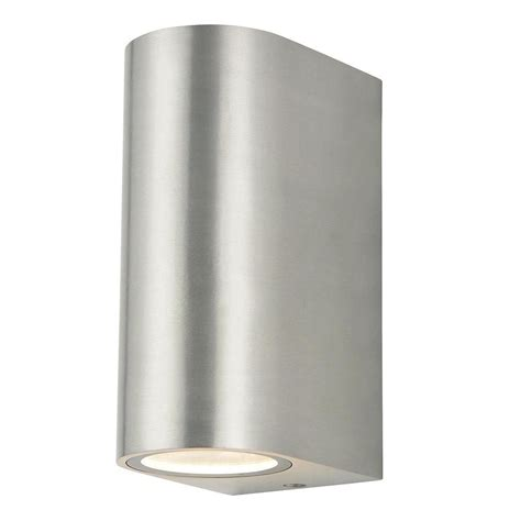 2 light wall light irwell 2 light up and down outdoor wall light stainless