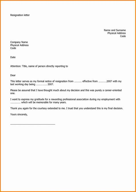 5 Microsoft Word Letter Of Resignation Template Resign Letter Job Letter Of Resignation Template Microsoft
