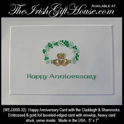 Irish Blessing   Happy Anniversary Card