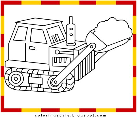 Coloring Pages Printable For Kids Bulldozer Coloring Pages Bulldozer Coloring Pages
