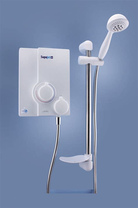 Shower Power by Supajet 100 Power Shower White Chrome 2053 402 Zsupj
