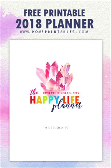 2017 2018 printable planner home binder set home home printables the home of free pretty printables