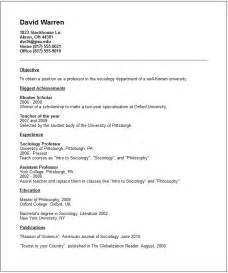 Example Of Academic Resume Academic Cv Examples Submited Images