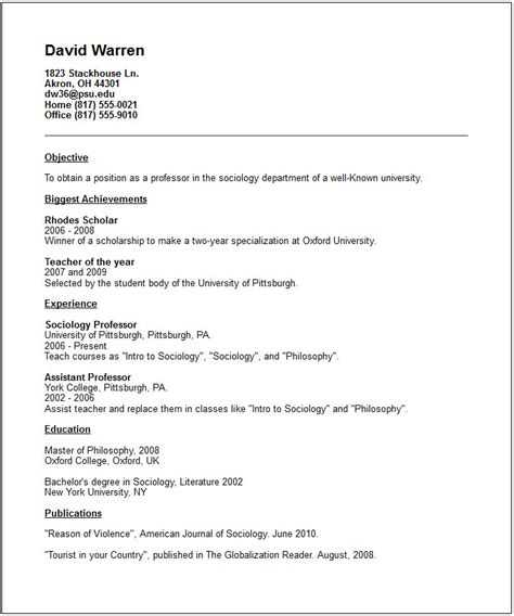 academic resume template education resume exles