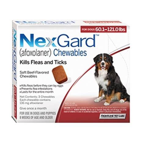 nexgard for dogs nexgard for dogs 60 1 121 0 lbs 3 month supply vetdepot