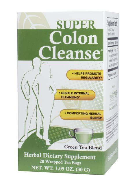 Colon Cleanse Detox Tea by Health Plus Colon Cleanse Tea Bags Green Tea 1 05